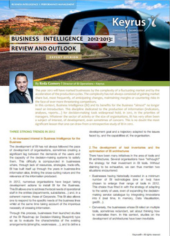 Expert Opinion - Business Intelligence 2012-2013