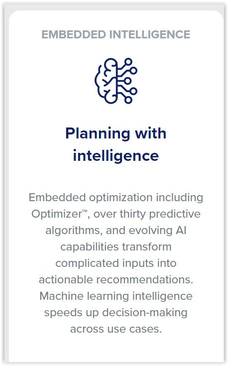 Fonctionnalités IA de l'éditeur Anaplan