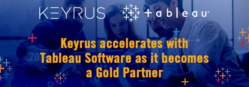 Keyrus becomes Gold Partner Tableau